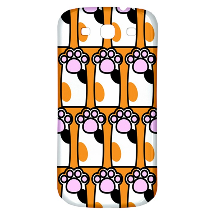 Cute Cat Hand Orange Samsung Galaxy S3 S III Classic Hardshell Back Case
