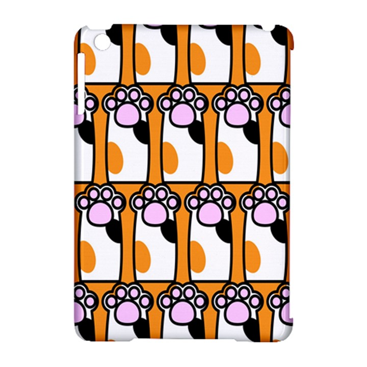 Cute Cat Hand Orange Apple iPad Mini Hardshell Case (Compatible with Smart Cover)