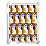 Cute Cat Hand Orange Apple iPad 3/4 Case (White) Front