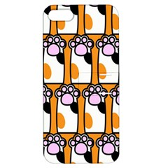 Cute Cat Hand Orange Apple iPhone 5 Hardshell Case with Stand