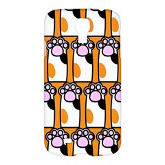 Cute Cat Hand Orange Samsung Galaxy S4 I9500/I9505 Hardshell Case