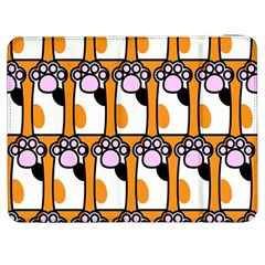Cute Cat Hand Orange Samsung Galaxy Tab 7  P1000 Flip Case