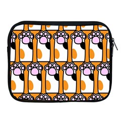 Cute Cat Hand Orange Apple Ipad 2/3/4 Zipper Cases