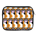 Cute Cat Hand Orange Apple iPad 2/3/4 Zipper Cases Front