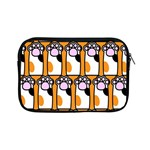 Cute Cat Hand Orange Apple iPad Mini Zipper Cases Front