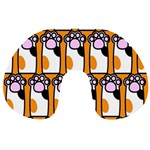 Cute Cat Hand Orange Travel Neck Pillows Front