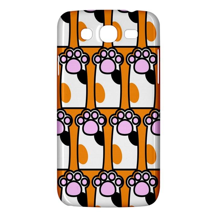 Cute Cat Hand Orange Samsung Galaxy Mega 5.8 I9152 Hardshell Case