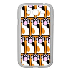 Cute Cat Hand Orange Samsung Galaxy Grand DUOS I9082 Case (White)