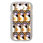 Cute Cat Hand Orange Samsung Galaxy Grand DUOS I9082 Case (White) Front