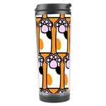 Cute Cat Hand Orange Travel Tumbler Left