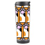Cute Cat Hand Orange Travel Tumbler Center