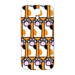 Cute Cat Hand Orange Samsung Galaxy S4 I9500/I9505  Hardshell Back Case Front