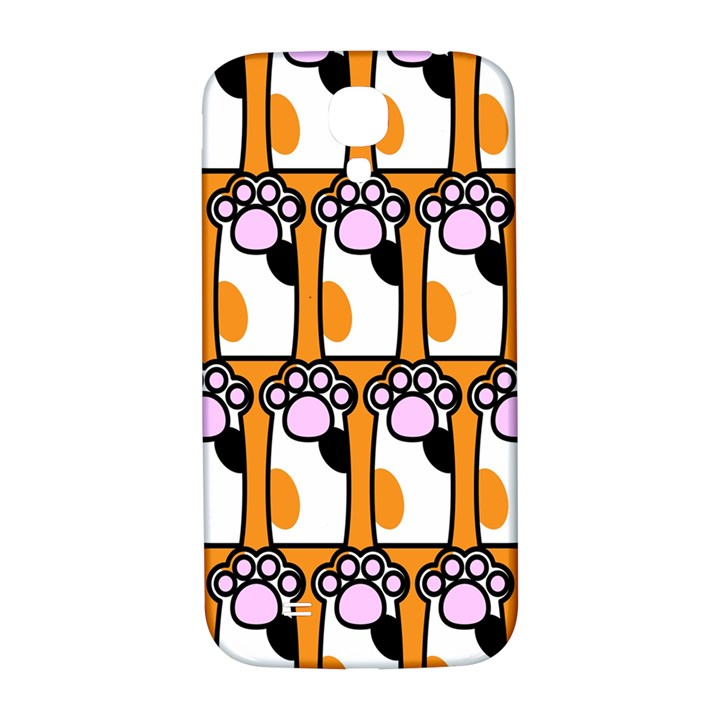 Cute Cat Hand Orange Samsung Galaxy S4 I9500/I9505  Hardshell Back Case