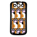 Cute Cat Hand Orange Samsung Galaxy S3 Back Case (Black) Front
