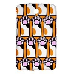 Cute Cat Hand Orange Samsung Galaxy Tab 3 (7 ) P3200 Hardshell Case