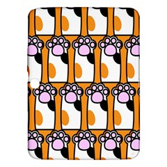 Cute Cat Hand Orange Samsung Galaxy Tab 3 (10.1 ) P5200 Hardshell Case