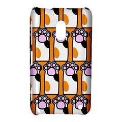 Cute Cat Hand Orange Nokia Lumia 620
