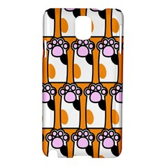 Cute Cat Hand Orange Samsung Galaxy Note 3 N9005 Hardshell Case
