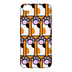 Cute Cat Hand Orange Apple iPhone 5C Hardshell Case