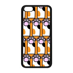Cute Cat Hand Orange Apple iPhone 5C Seamless Case (Black)