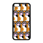 Cute Cat Hand Orange Apple iPhone 5C Seamless Case (Black) Front