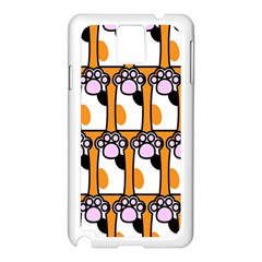 Cute Cat Hand Orange Samsung Galaxy Note 3 N9005 Case (White)