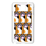 Cute Cat Hand Orange Samsung Galaxy Note 3 N9005 Case (White) Front
