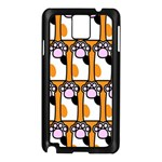Cute Cat Hand Orange Samsung Galaxy Note 3 N9005 Case (Black) Front