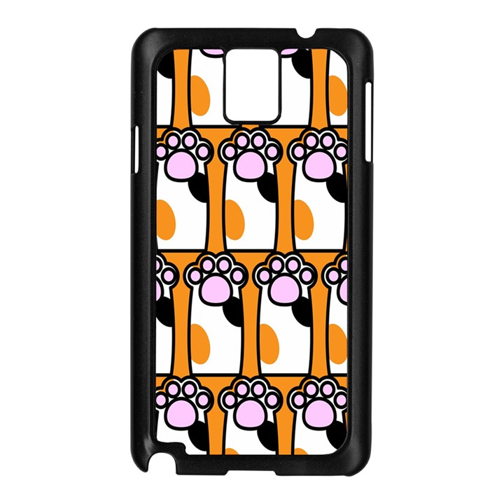Cute Cat Hand Orange Samsung Galaxy Note 3 N9005 Case (Black)