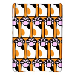 Cute Cat Hand Orange Ipad Air Hardshell Cases
