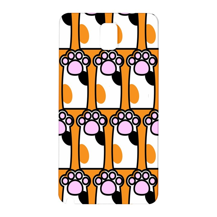 Cute Cat Hand Orange Samsung Galaxy Note 3 N9005 Hardshell Back Case