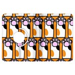 Cute Cat Hand Orange Kindle Fire HDX Flip 360 Case Front