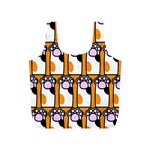 Cute Cat Hand Orange Full Print Recycle Bags (S)  Back