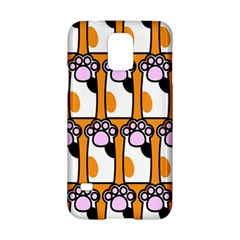 Cute Cat Hand Orange Samsung Galaxy S5 Hardshell Case