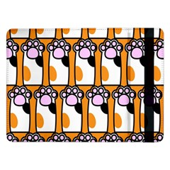 Cute Cat Hand Orange Samsung Galaxy Tab Pro 12 2  Flip Case