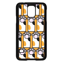 Cute Cat Hand Orange Samsung Galaxy S5 Case (Black)
