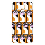 Cute Cat Hand Orange Samsung Galaxy S5 Back Case (White) Front