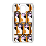 Cute Cat Hand Orange Samsung Galaxy S5 Case (White) Front
