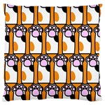 Cute Cat Hand Orange Large Flano Cushion Case (One Side) Front