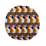 Cute Cat Hand Orange Standard 15  Premium Flano Round Cushions Back