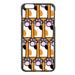 Cute Cat Hand Orange Apple iPhone 6 Plus/6S Plus Black Enamel Case Front