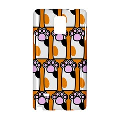 Cute Cat Hand Orange Samsung Galaxy Note 4 Hardshell Case