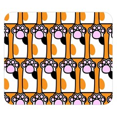 Cute Cat Hand Orange Double Sided Flano Blanket (small)
