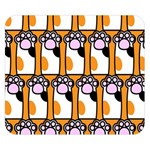 Cute Cat Hand Orange Double Sided Flano Blanket (Small)  50 x40 Blanket Front