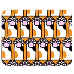 Cute Cat Hand Orange Double Sided Flano Blanket (Medium)  60 x50 Blanket Front