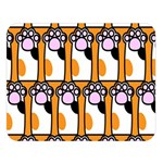 Cute Cat Hand Orange Double Sided Flano Blanket (Large)  80 x60 Blanket Front