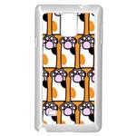 Cute Cat Hand Orange Samsung Galaxy Note 4 Case (White) Front