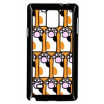 Cute Cat Hand Orange Samsung Galaxy Note 4 Case (Black) Front