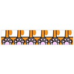 Cute Cat Hand Orange Flano Scarf (Small) Front
