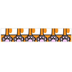 Cute Cat Hand Orange Flano Scarf (large)
